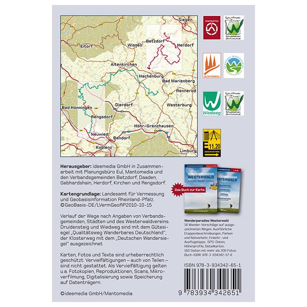 Westerwald Karte.Wanderparadies Westerwald Offizielle Topografische Freizeitkarte 1 25 000