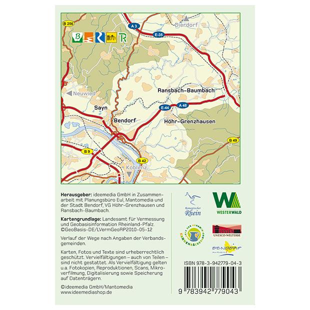 Westerwald Karte.Wandergenuss Rhein Westerwald Topografische Wanderkarte 1 25 000