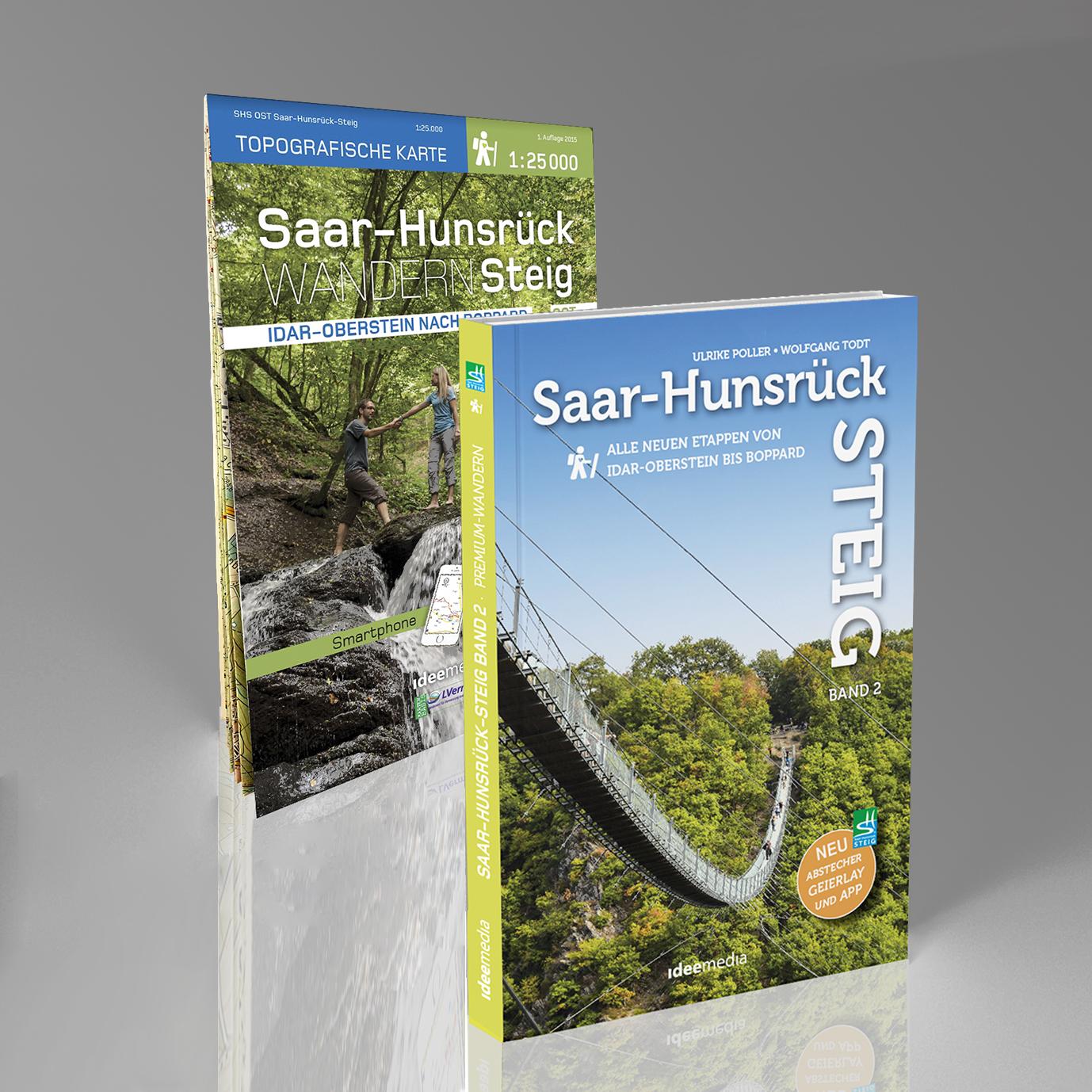 Hunsrück Hochwald Karte.Saar Hunsrück Steig Band 2 Ost Wander Set Buch Und Topografische Karte